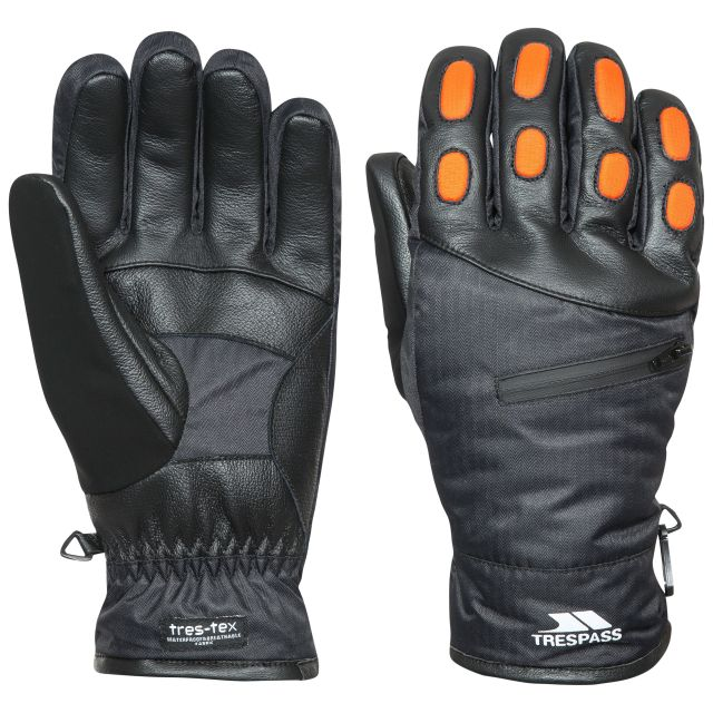 Argus Unisex Waterproof Ski Gloves in Black