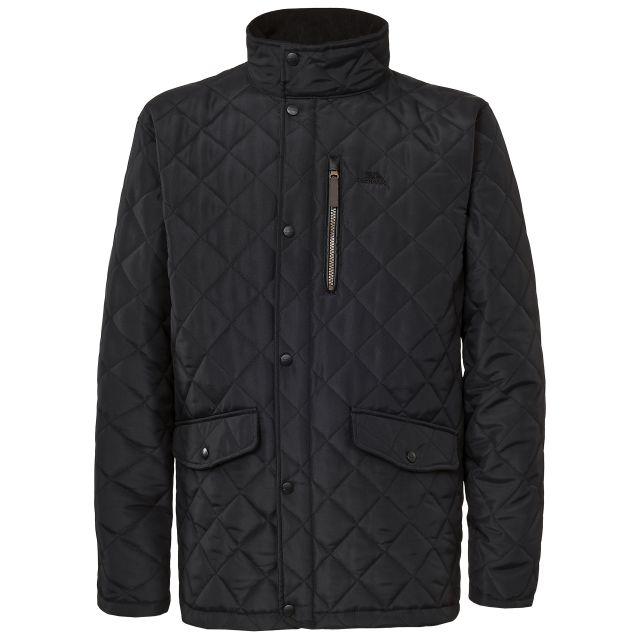 Argyle Men's Quilted Jacket in Black
