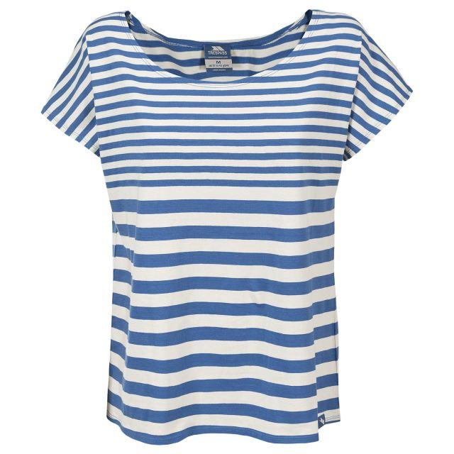 Ari Women's Nautical Striped Casual T-Shirt in Blue