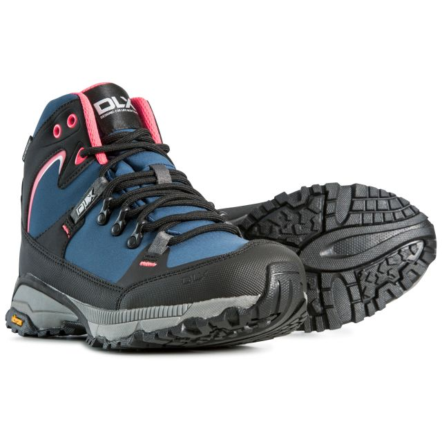Arlington Women's DLX Vibram Waterproof Walking Boots in Blue
