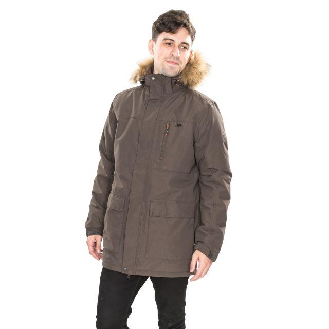 Armando Men's Waterproof Parka Jacket in Khaki
