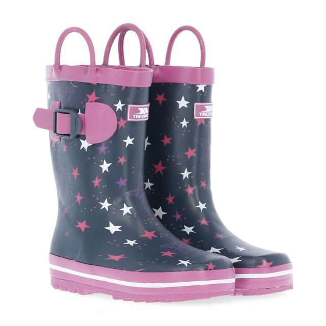 Astron Kids' Printed Wellies in Purple