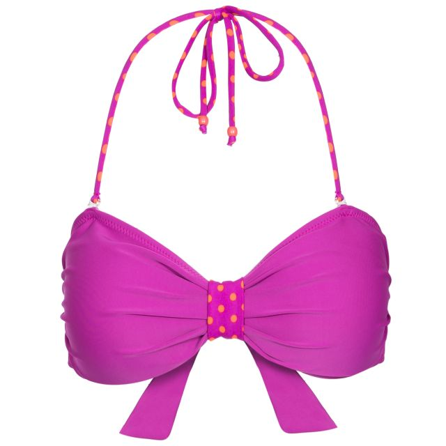 Aubrey Women's Halterneck Bikini Top in Purple
