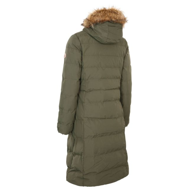 Audrey X Women's Long Length Padded Jacket in Dark Vine