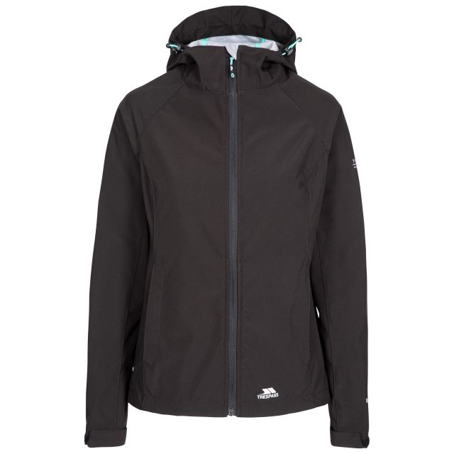 Aviana Women's Hooded Softshell Jacket in Black