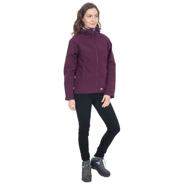 Aviana Women's Hooded Softshell Jacket in Purple