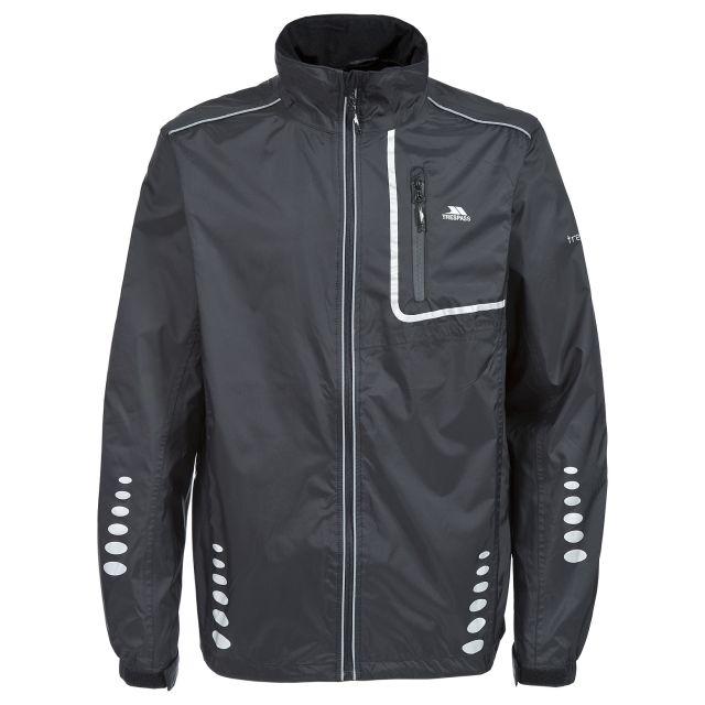 Axle Men's Waterproof Cycling Jacket in Black