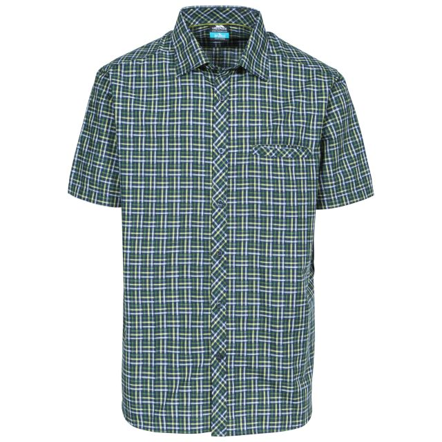 Baffin Men's Short Sleeve Checked Shirt in Green