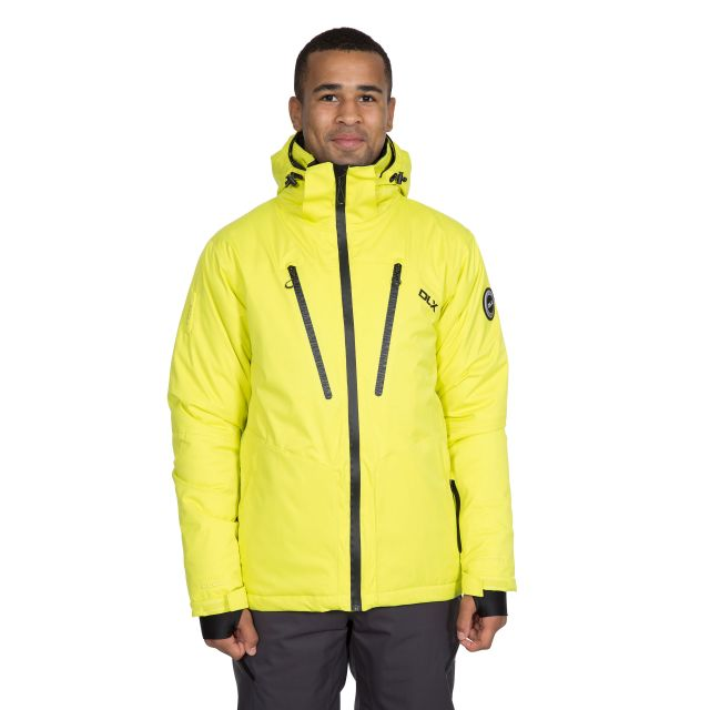 Banner Men's DLX Waterproof RECCO Ski Jacket in Neon Green