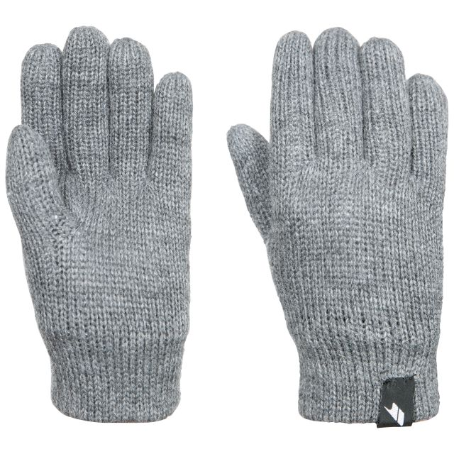 Bargo Kids' Knitted Gloves in Light Grey