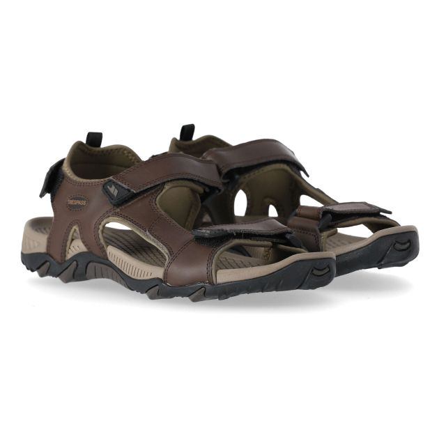 Barkon Men's Walking Sandals in Brown