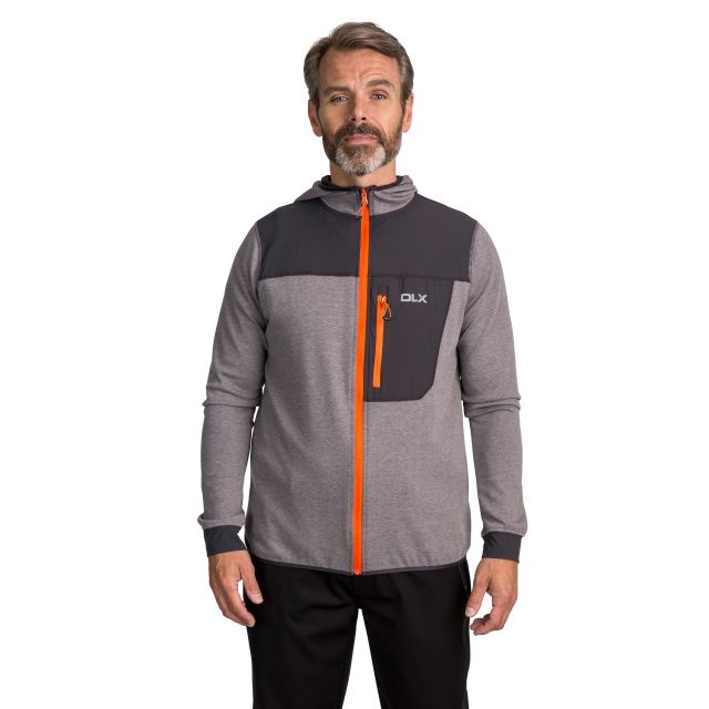 Barnes Men's DLX Quick Dry Hoodie in Grey