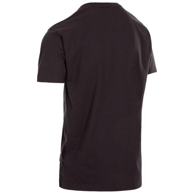 Trespass Men's Casual Short Sleeve Graphic Mountainscape T-Shirt Barnstaple Grey