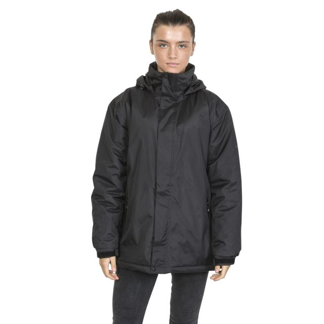 Trespass Womens Waterproof Jacket Padded Bayfield Black
