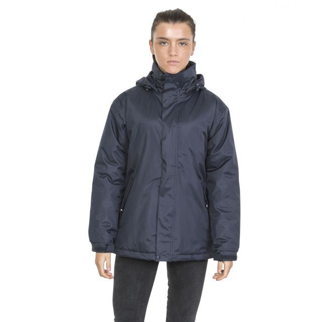 Trespass Womens Waterproof Jacket Padded Bayfield Navy