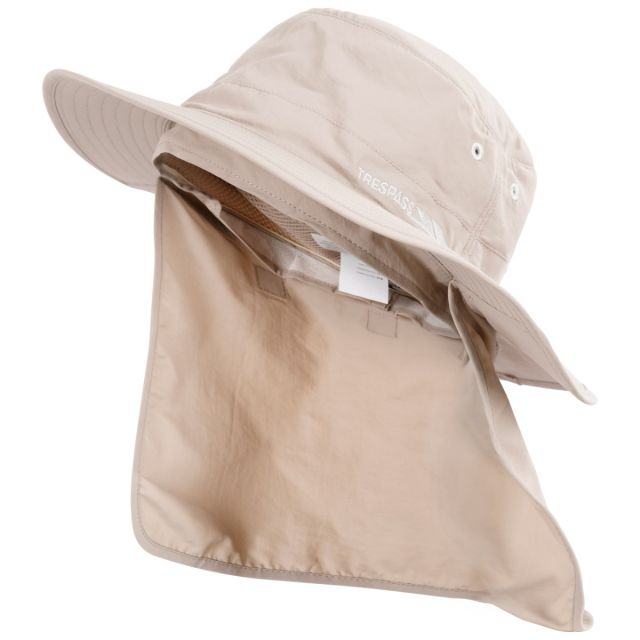 Bearing Adults' Quick Dry Bucket Hat in Beige, Hat at angled view
