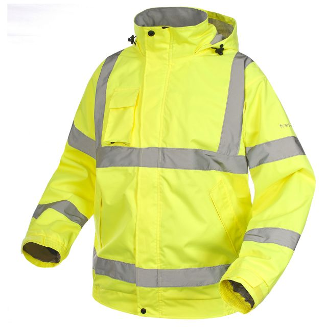 Beckett Adults' Hi-Vis Waterproof Jacket in Yellow