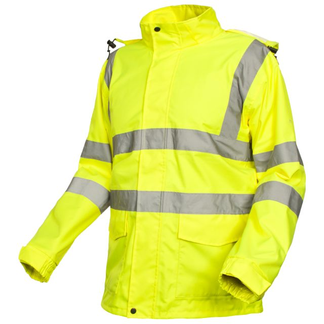 Beckon Unisex Hi-Vis Waterproof Jacket in Yellow