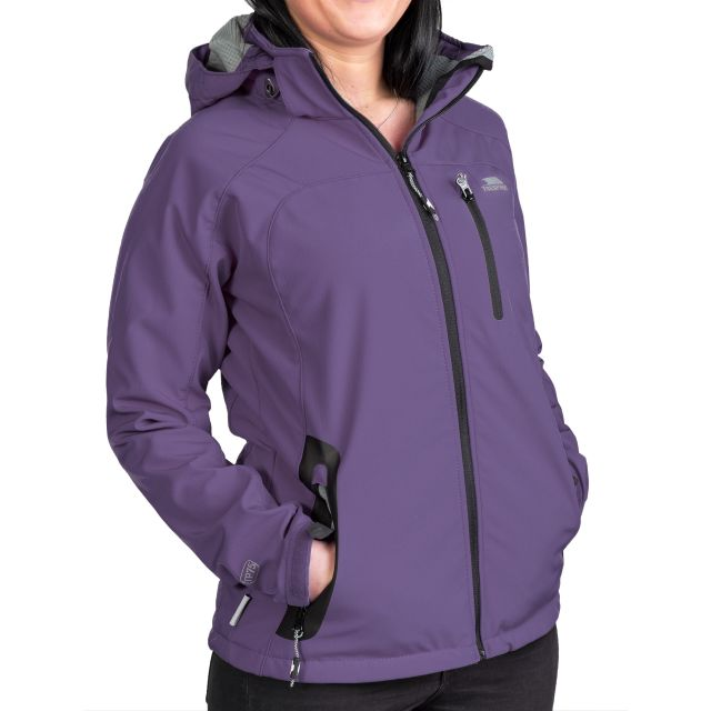 Trespass Womens Softshell Jacket Windproof Bela Blackcurrent