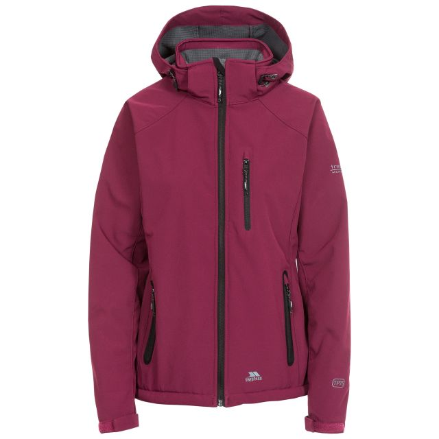 Bela II Women's Softshell Jacket in Burgundy