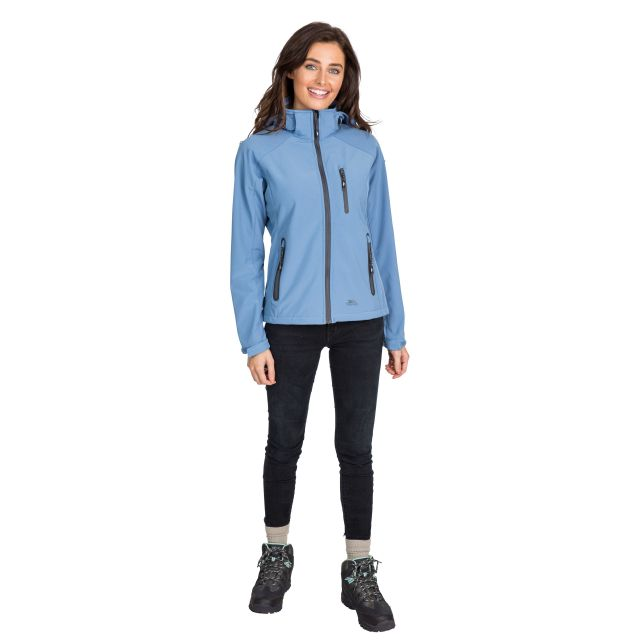 Trespass Womens Softshell Jacket Bela II Denim Blue