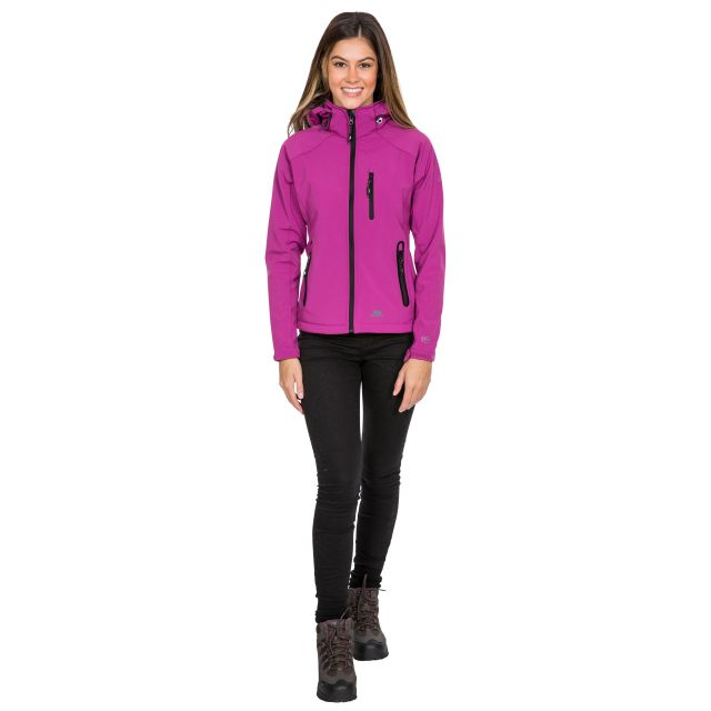 Trespass Womens Softshell Jacket Bela II Purple