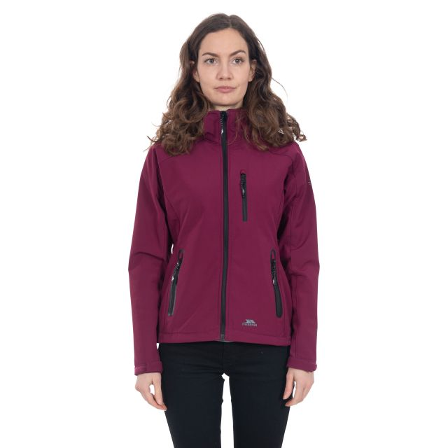 Trespass Womens Softshell Jacket Bela II Burgundy