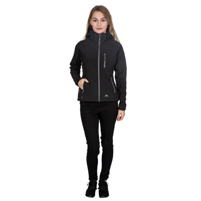 Trespass Womens Softshell Jacket Bela II in Black