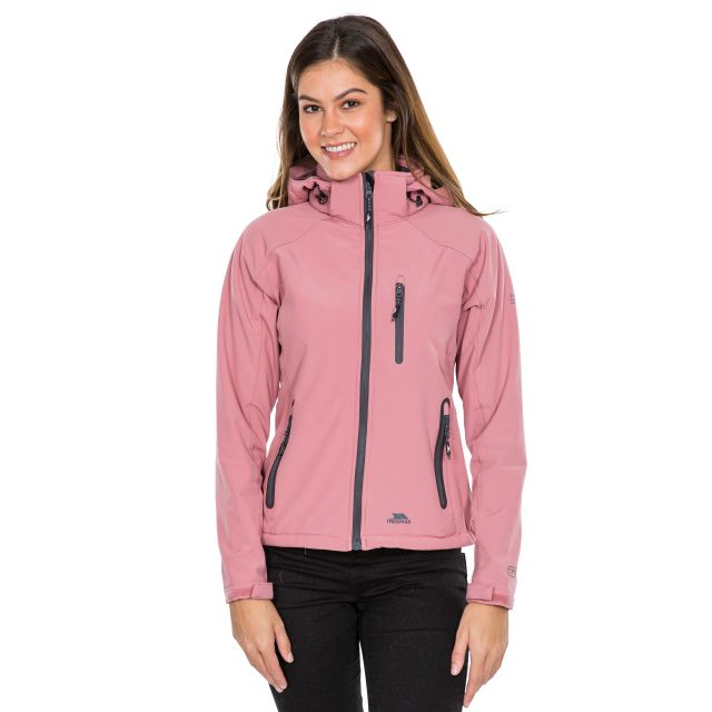 Trespass Womens Softshell Jacket Bela II Pink