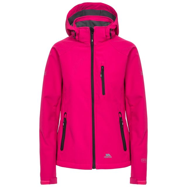 Trespass Womens Softshell Jacket Bela II Dark Pink