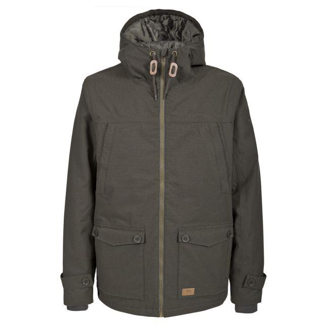 Benedict Men's Waterproof Parka Jacket in Khaki