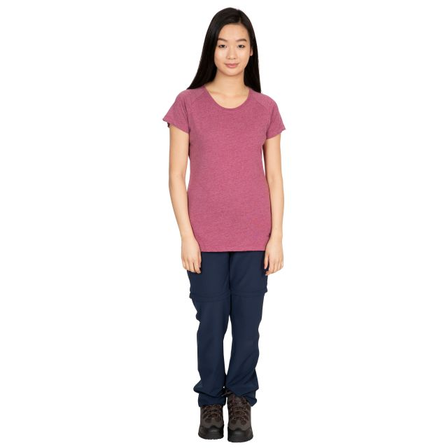 Benita Women's Crew Neck T-Shirt in Purple