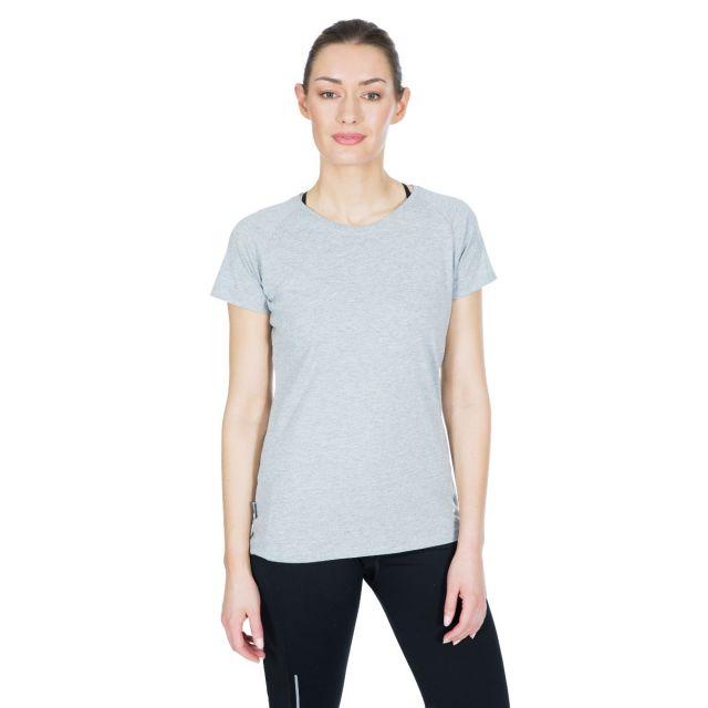 Benita Women's Crew Neck T-Shirt in Light Grey