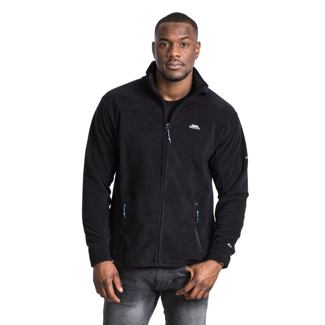 Bernal Men's Sueded Fleece Jacket in Black