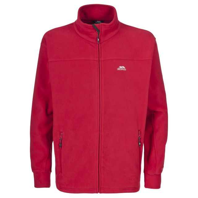 Bernal Men's Sueded Fleece Jacket in Red