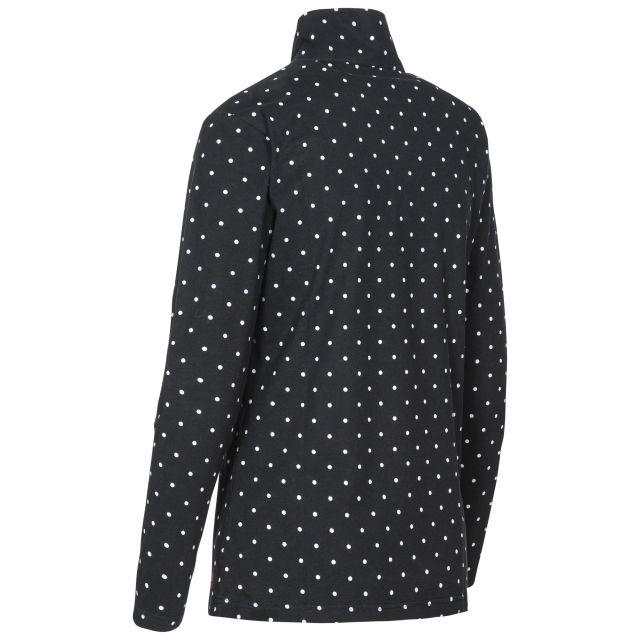Betty II Women's 1/2 Zip Long Sleeve Top in Black