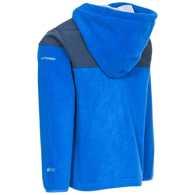 Bieber Kids' Full Zip Fleece Hoodie in Blue