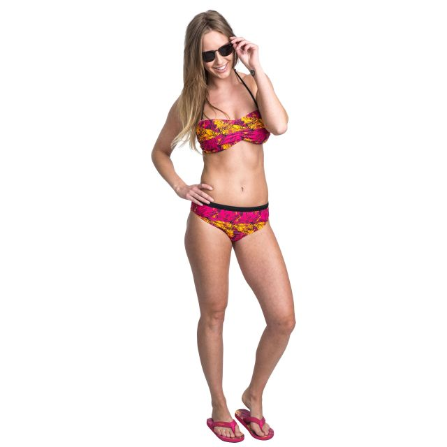 Linear Women's Halterneck Bikini Top - PLN