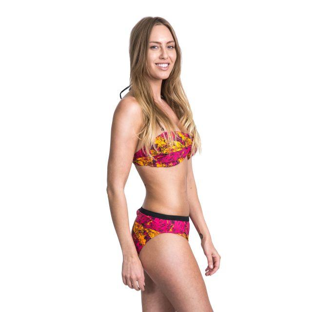 Linear Women's Halterneck Bikini Top in Pink