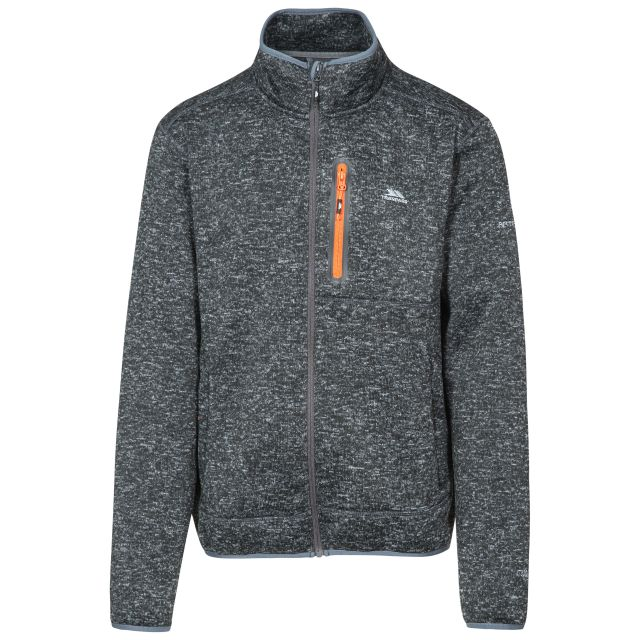 Bingham Men's Marl Fleece Jacket in Black