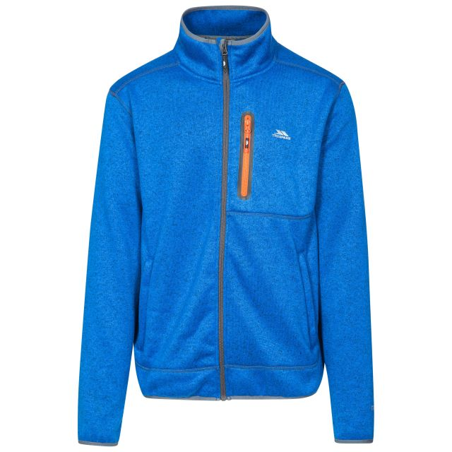 Bingham Men's Marl Fleece Jacket in Blue