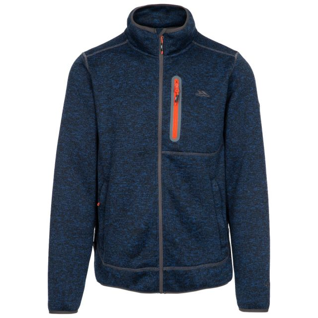 Bingham Men's Marl Fleece Jacket in Navy