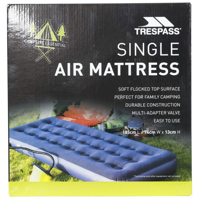 Inflatable Single Mattress 185cm in Blue