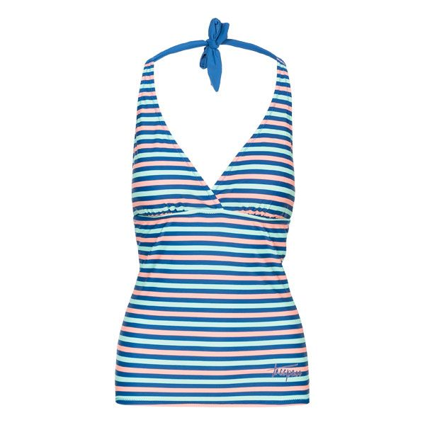 Bloomer Women's Halterneck Tankini Top in Blue