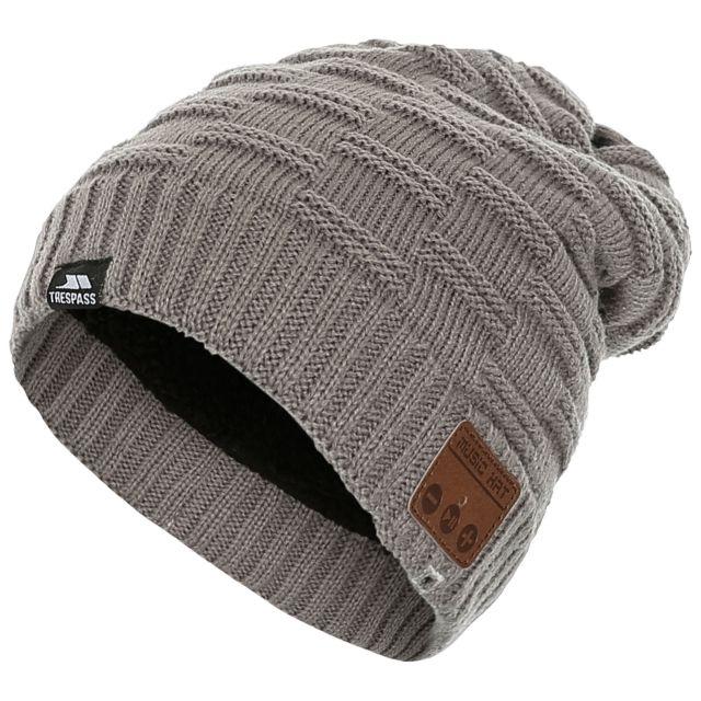 Bluebeats Unisex Bluetooth Beanie Hat in Light Grey