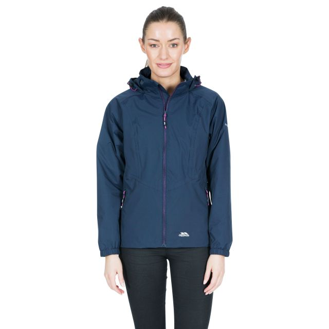 Trespass Womens Waterproof Jacket Blyton in Navy