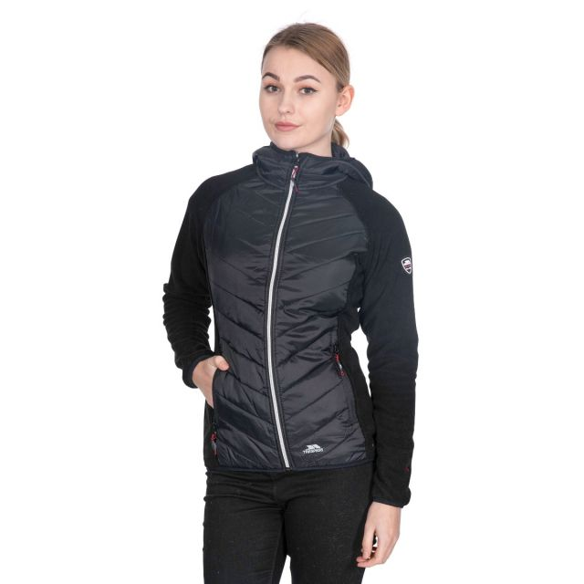 Boardwalk Women's Quilted Hooded Jacket in Black