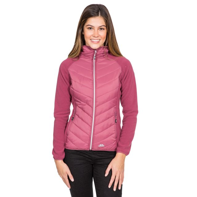 Boardwalk Women's Quilted Hooded Jacket in Pink