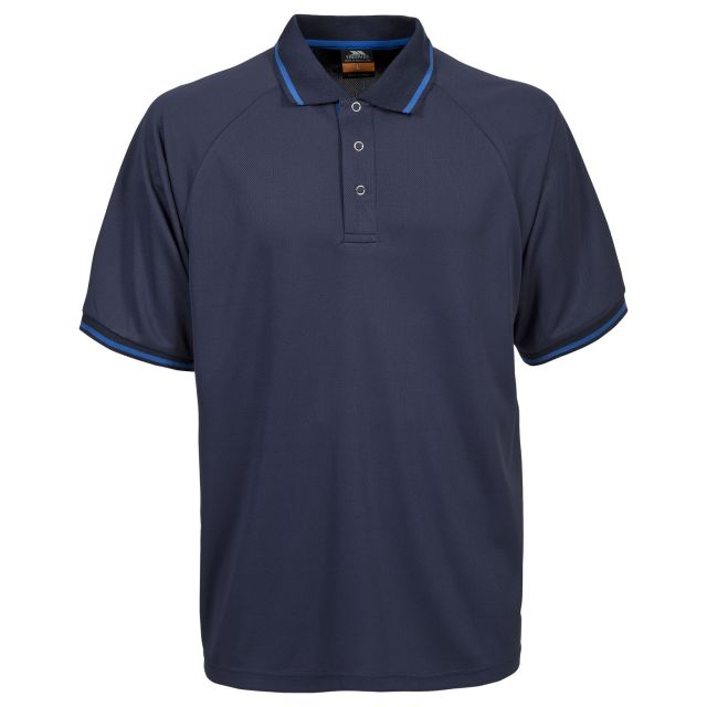 Bonington Men's Quick Dry Polo Shirt in Blue