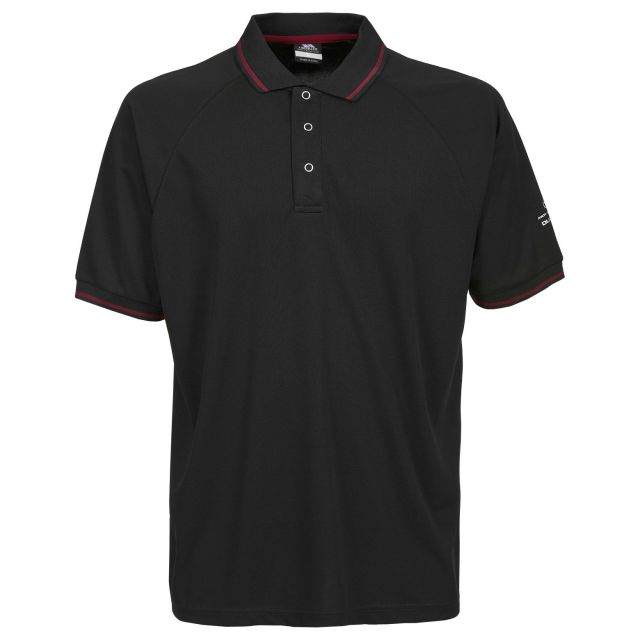 Bonington Men's Quick Dry Polo Shirt in Black